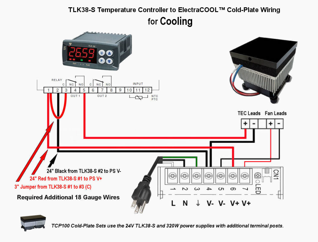 TLK38-S Wiring for Cooling